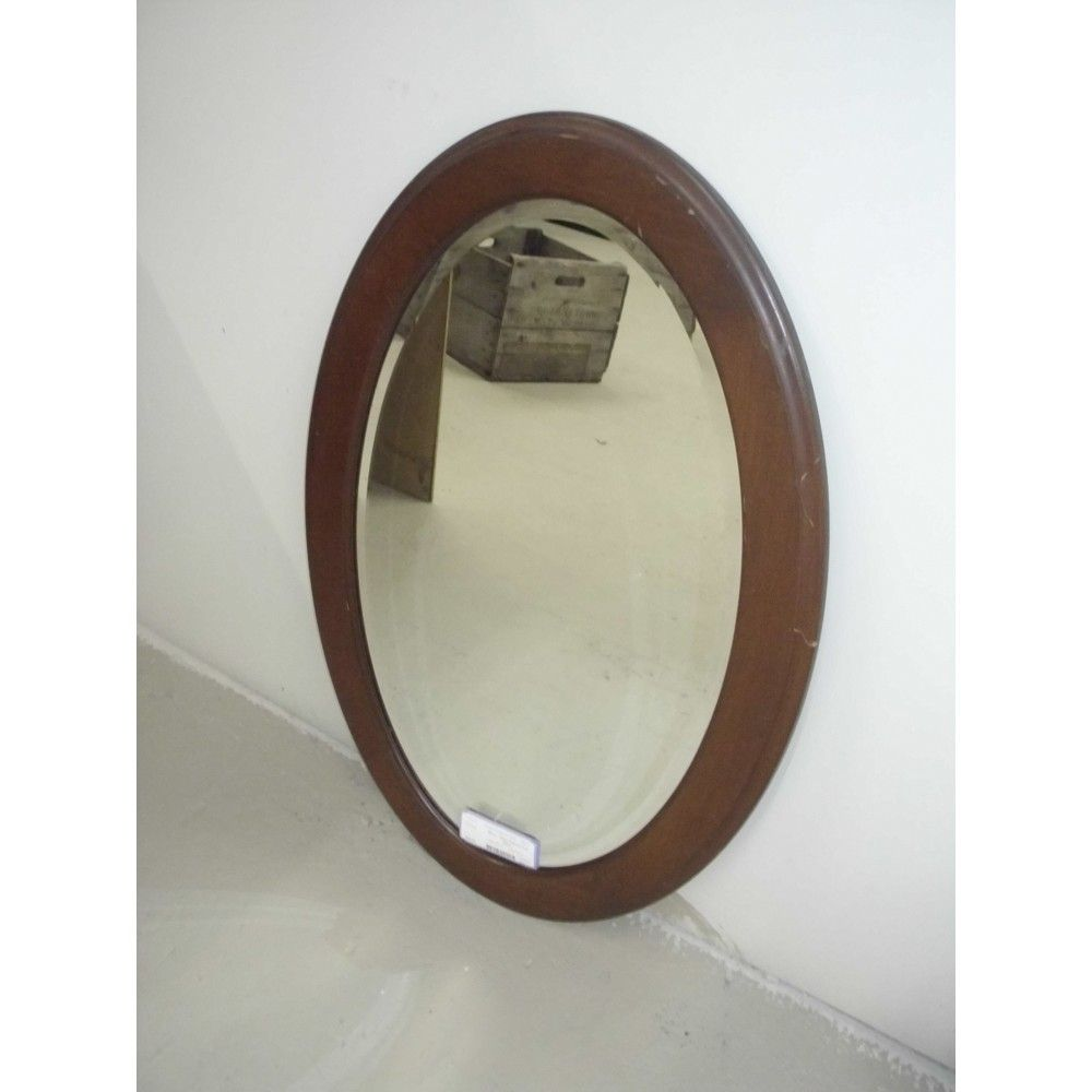 Mirror - Wood Framed Oval Mirror