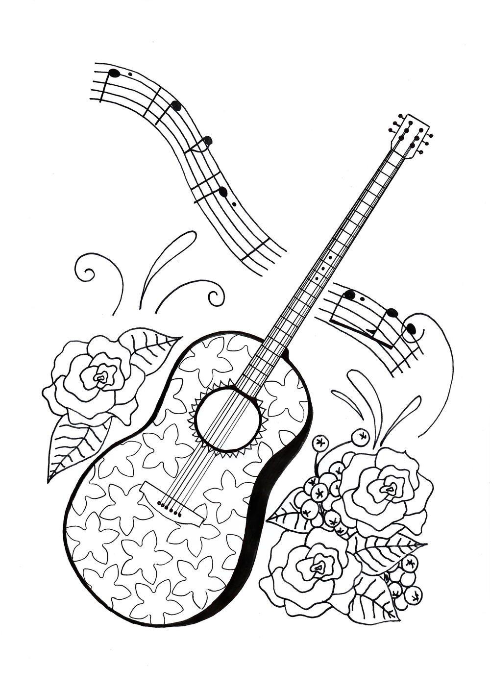 Dime by cheshirecat19 Guitar art, Music drawings, Art
