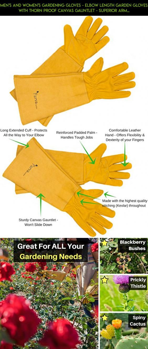 Menu0027s And Womenu0027s Gardening Gloves   Elbow Length Garden Gloves With Thorn  Proof Canvas Gauntlet