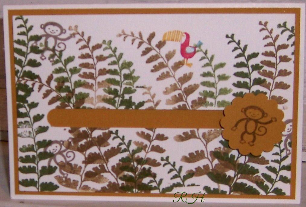 Kullerkarte mit Stempel von StampinUp