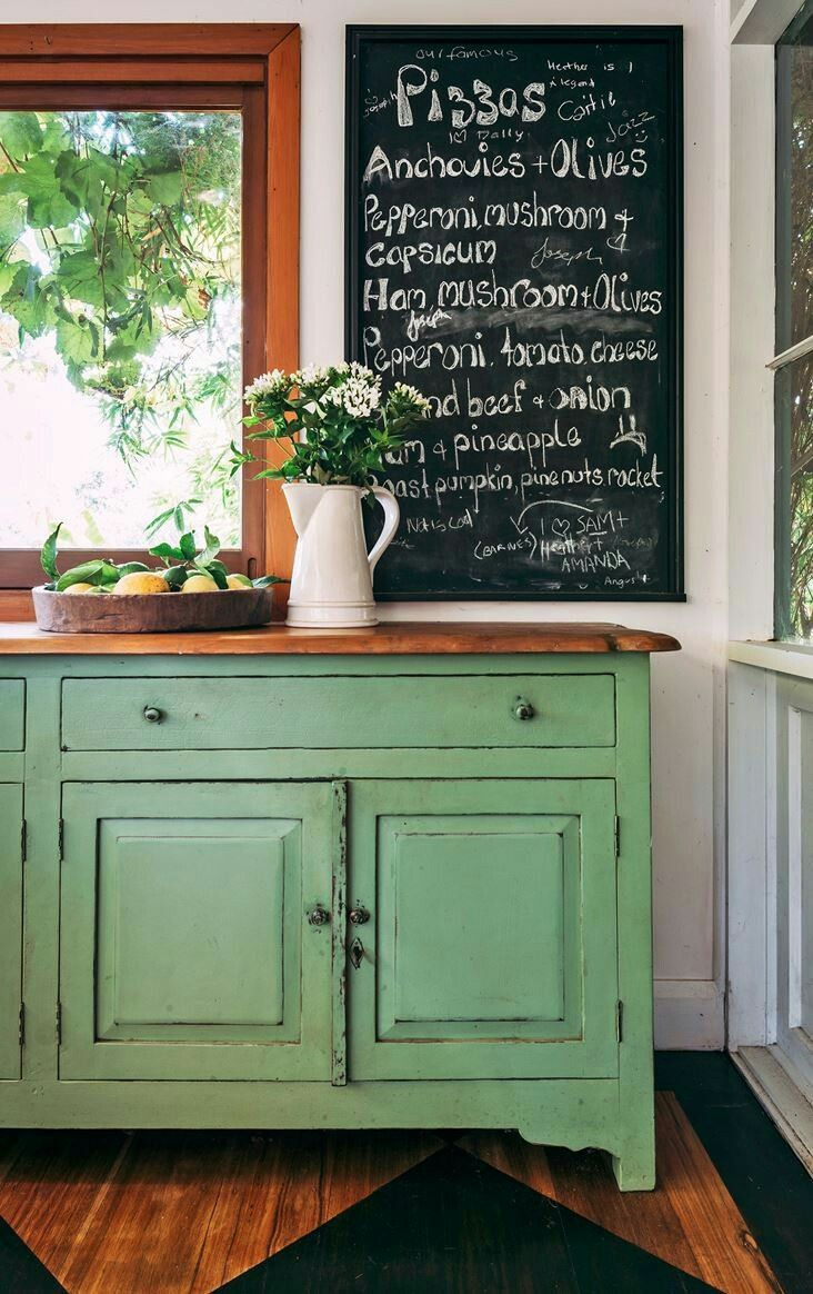 Gorgeous green cabinets