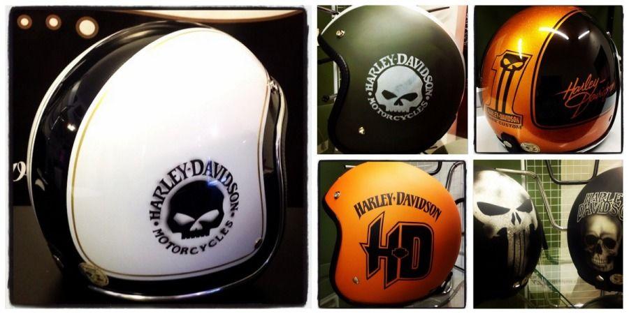 Harley Davidson Motorcycle Helmets For Men And Women In - Motorcycle helmet designs custom stickers