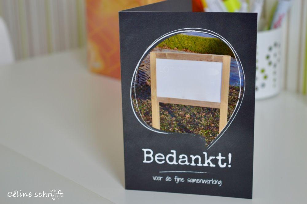 Bedankingskaartjes van smartphoto de manier om iemand extra gewardeerd te laten voelen céline schreef