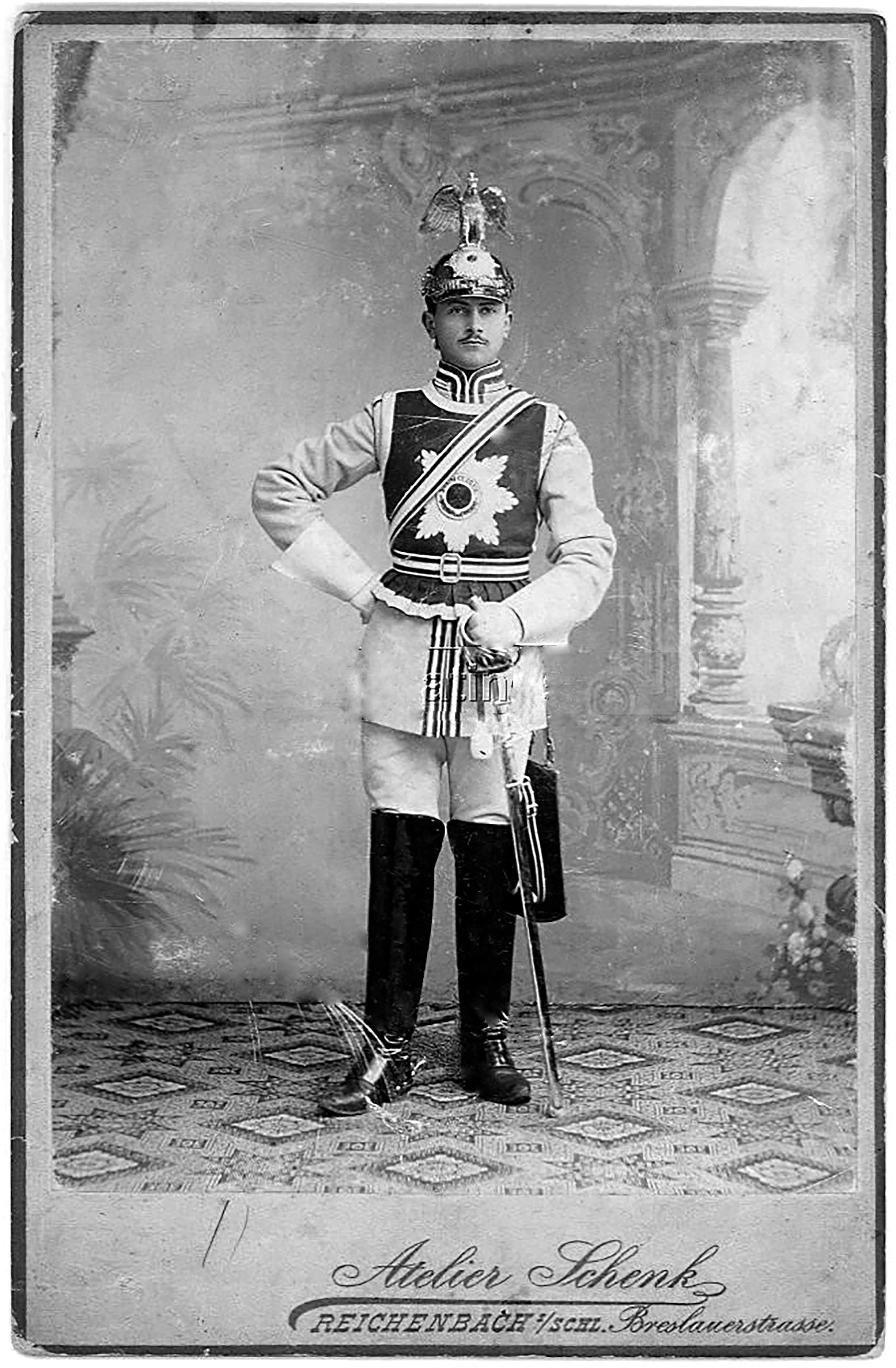 garde du corps trooper in special court uniform instead of the kurass he is wearing the full. Black Bedroom Furniture Sets. Home Design Ideas