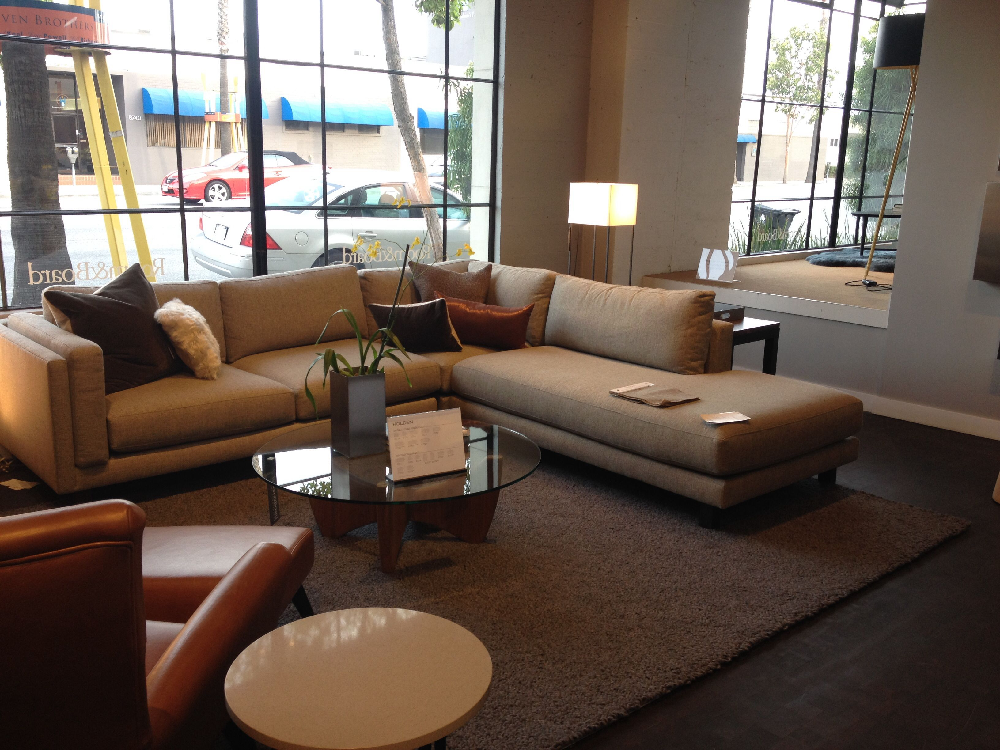 Room and Board Holden sectional $3797 112 x 107 Couch sofa