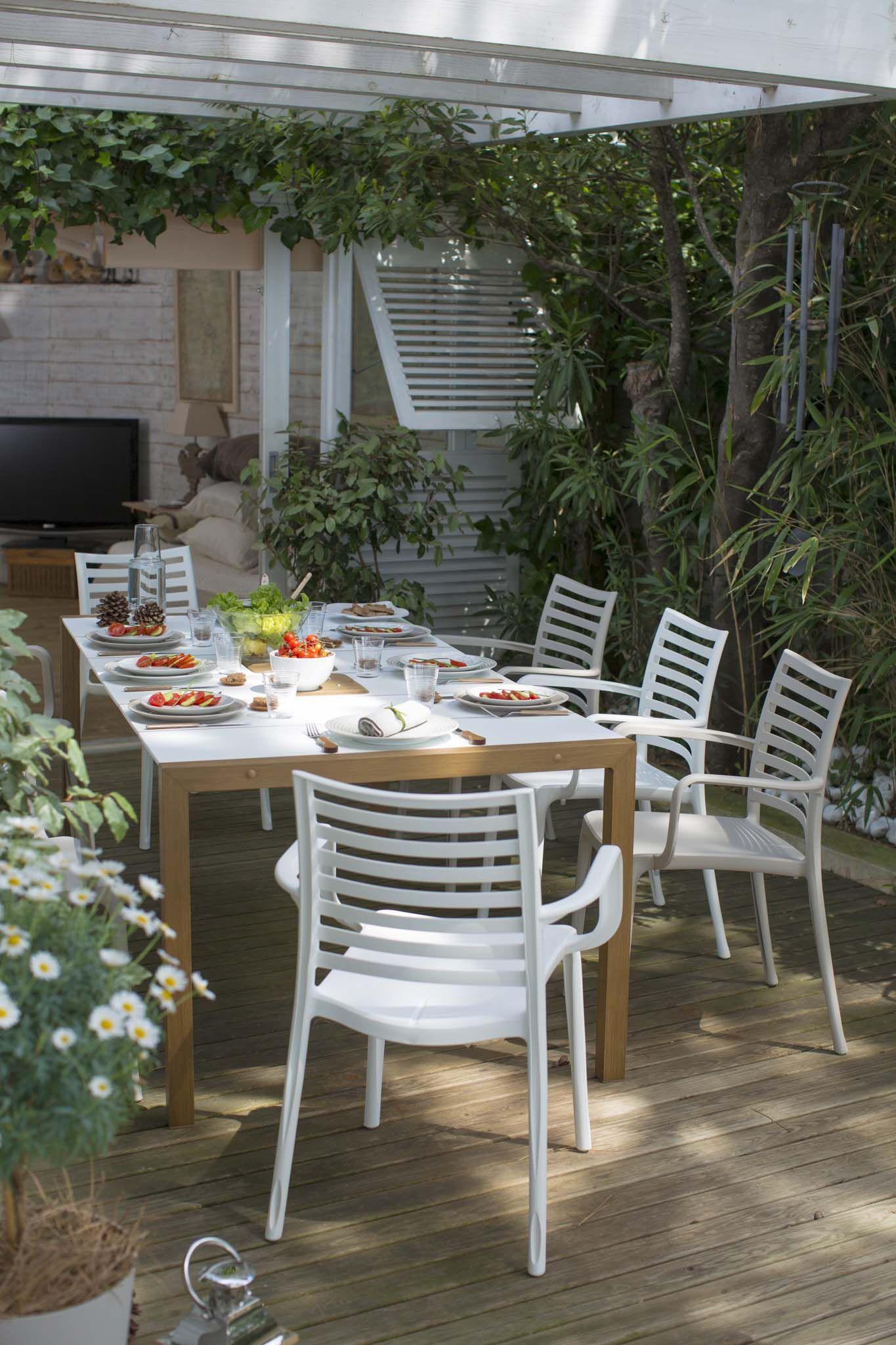 Salon de jardin dînatoire Sunday | Table et chaises de ...