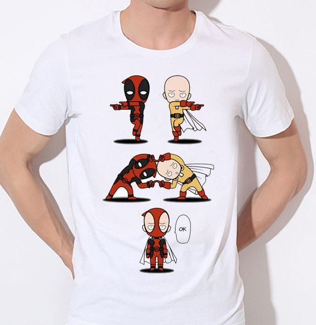 New One Punch Man Cool Costume Men Casual T-shirt Men T Shirts Fashion Funny Printed Home