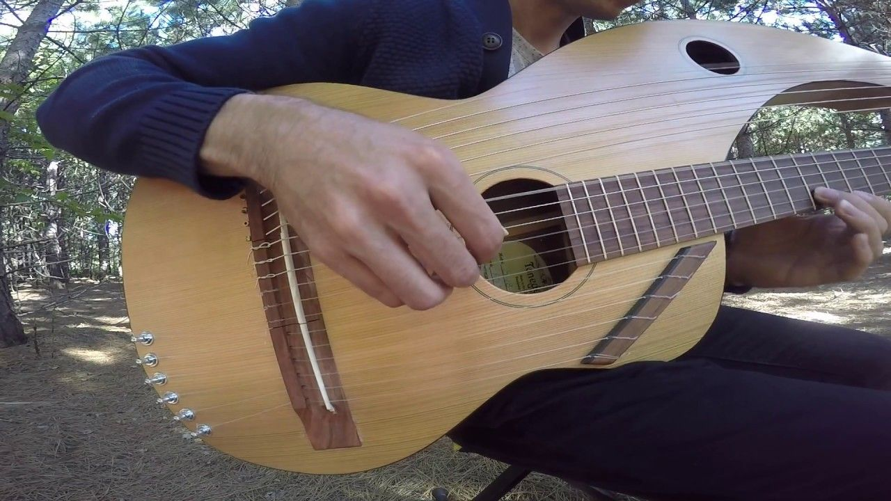 The Sound of Silence - 18 String Harp Guitar Cover - YouTube