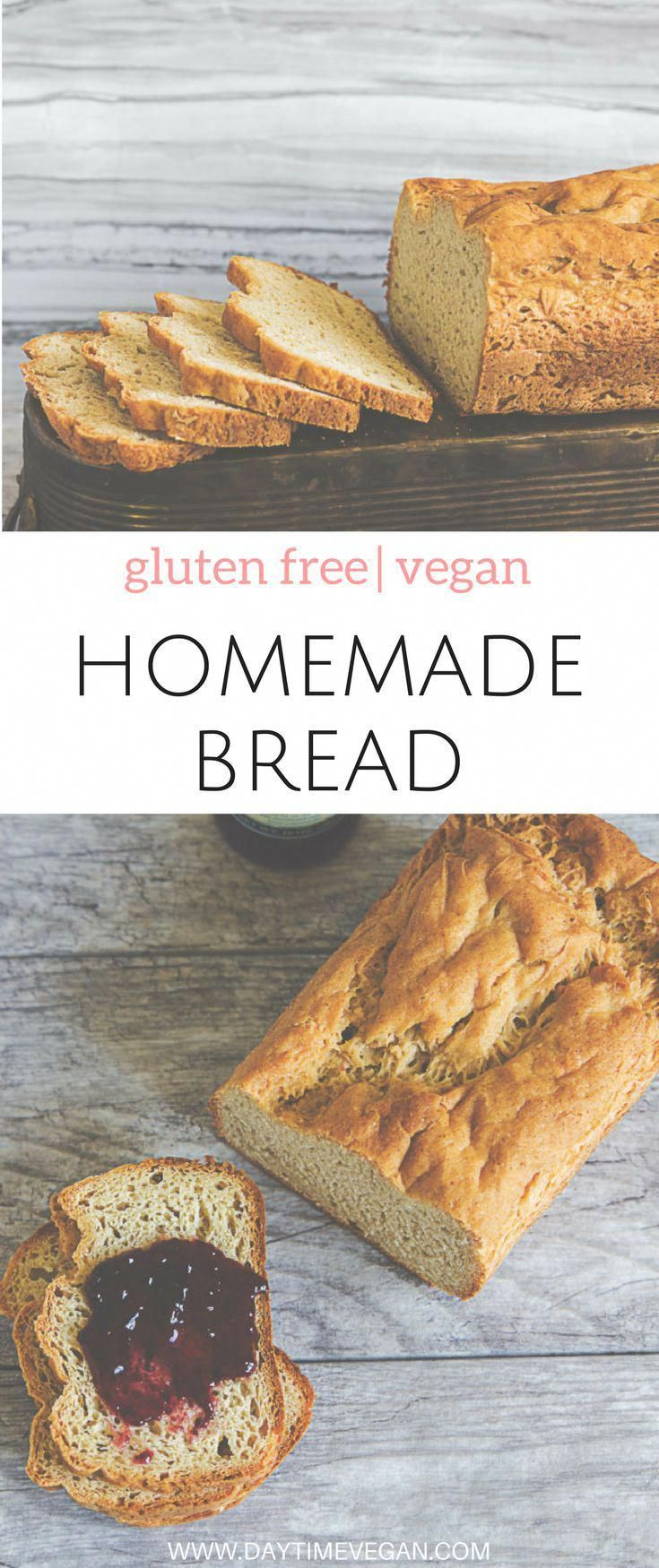 Easy Vegan & Gluten-free Homemade Bread Recipe | Easy vegan recipes for beginners | Vegan meal plans | Vegan bread recipe