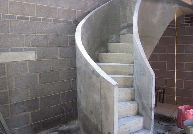 Best This Is An Example Of A Curved Concrete Stairs With A 400 x 300