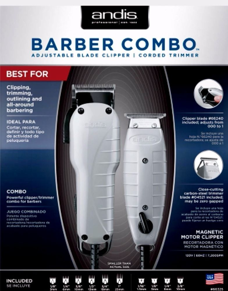 Details About Andis Barber Combo T Outliner Trimmer Silver Upc