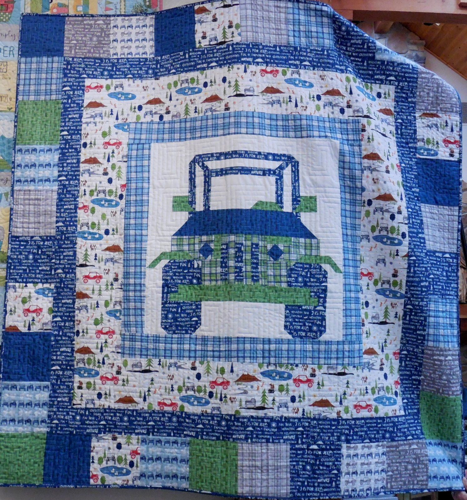 Off Road Quilt Kit 60 X 60 J Is For Jeep In Pink Quilts