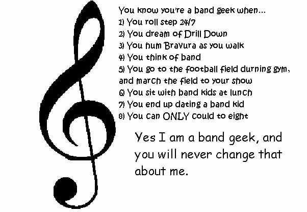 Dating a band geek images