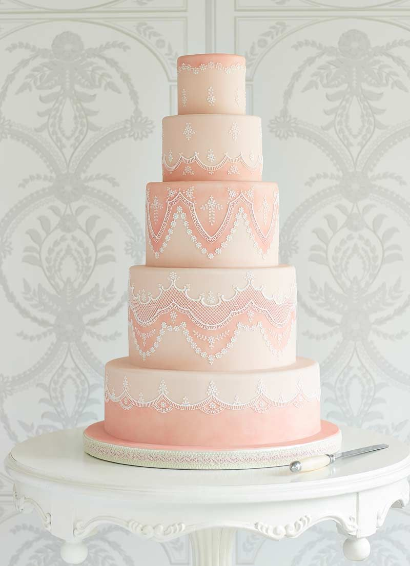 25 Lace Wedding Cakes That Will Take Your Breath Away | Cake ...