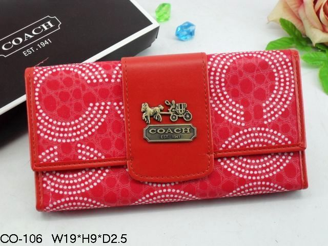 Chelsea Wallets 1942 White Linked C Logo and Red Leather
