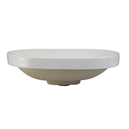 Decolav 1457-CWH Classically Redefined Oval Semi-Recessed