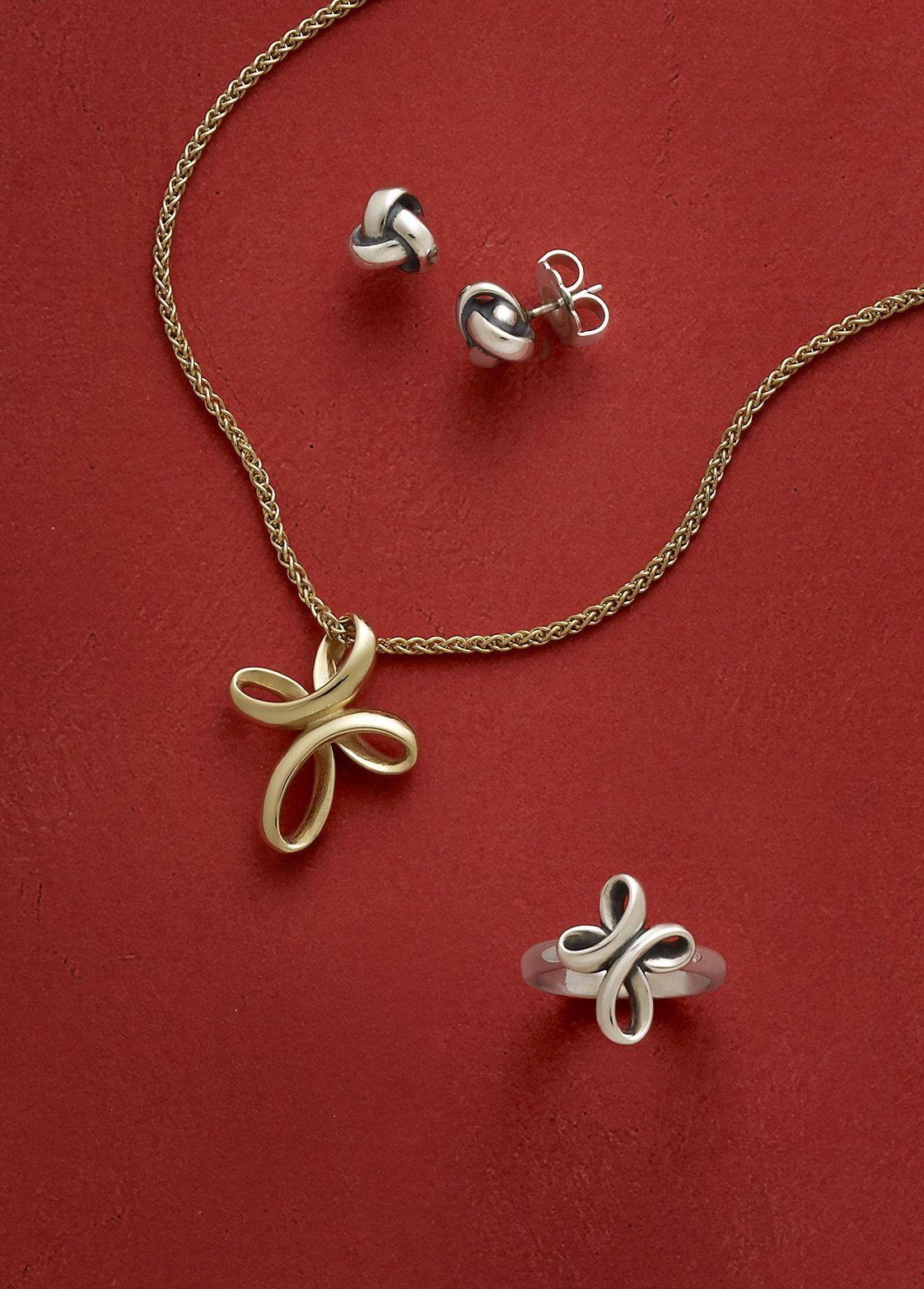 Eternal ribbon crosses ear posts from james avery jewelry eternal ribbon crosses ear posts from james avery jewelry biocorpaavc Images