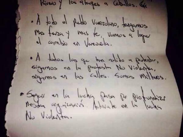 Palabras 2/2 @Leopoldo Lopez al pueblo 21/02/2014