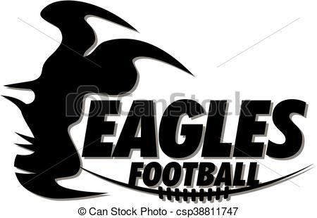 Line Drawing Vector Graphics : Vector eagles football stock illustration royalty free