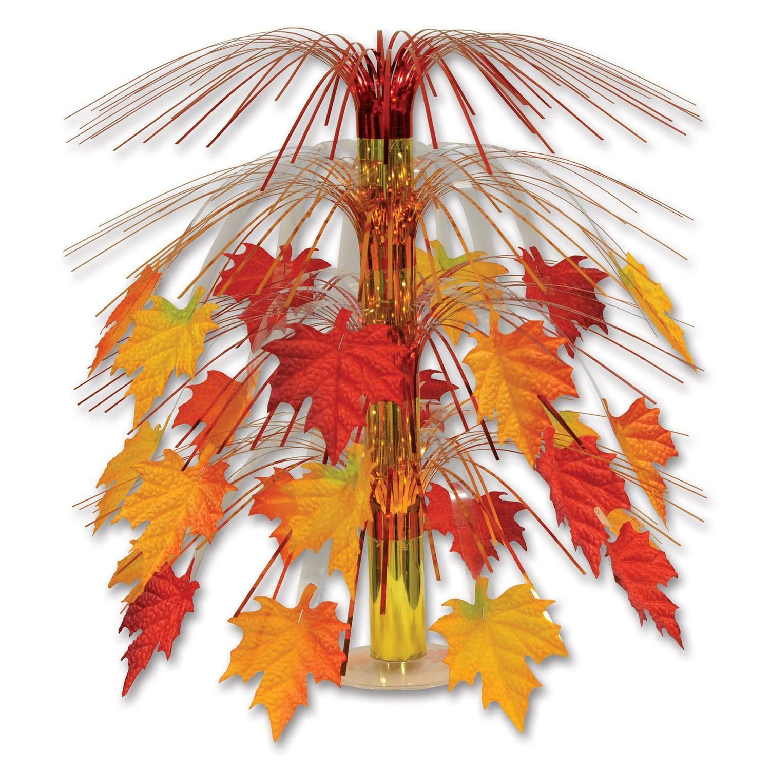 Fabric Fall Leaves Cascade Centerpiece Fall Party Decorations Fall Decor Diy Easy Fall Decor