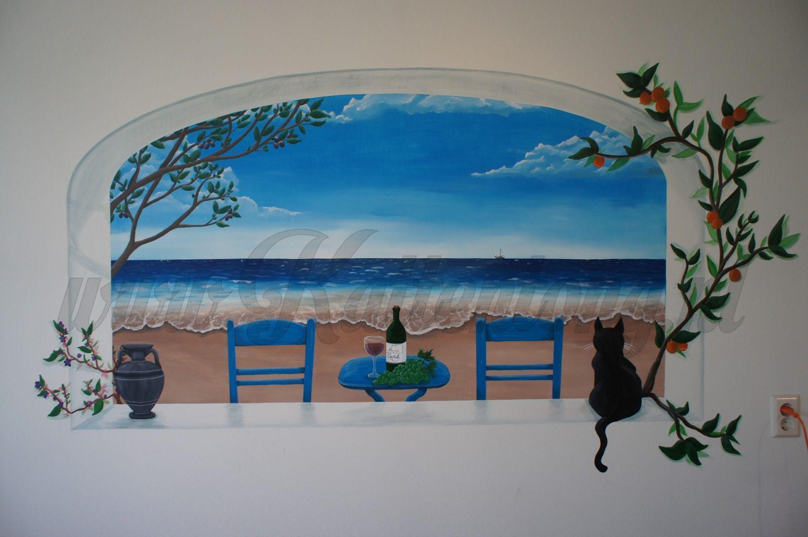 Muurschildering door Kattentong Decoratiewerken.