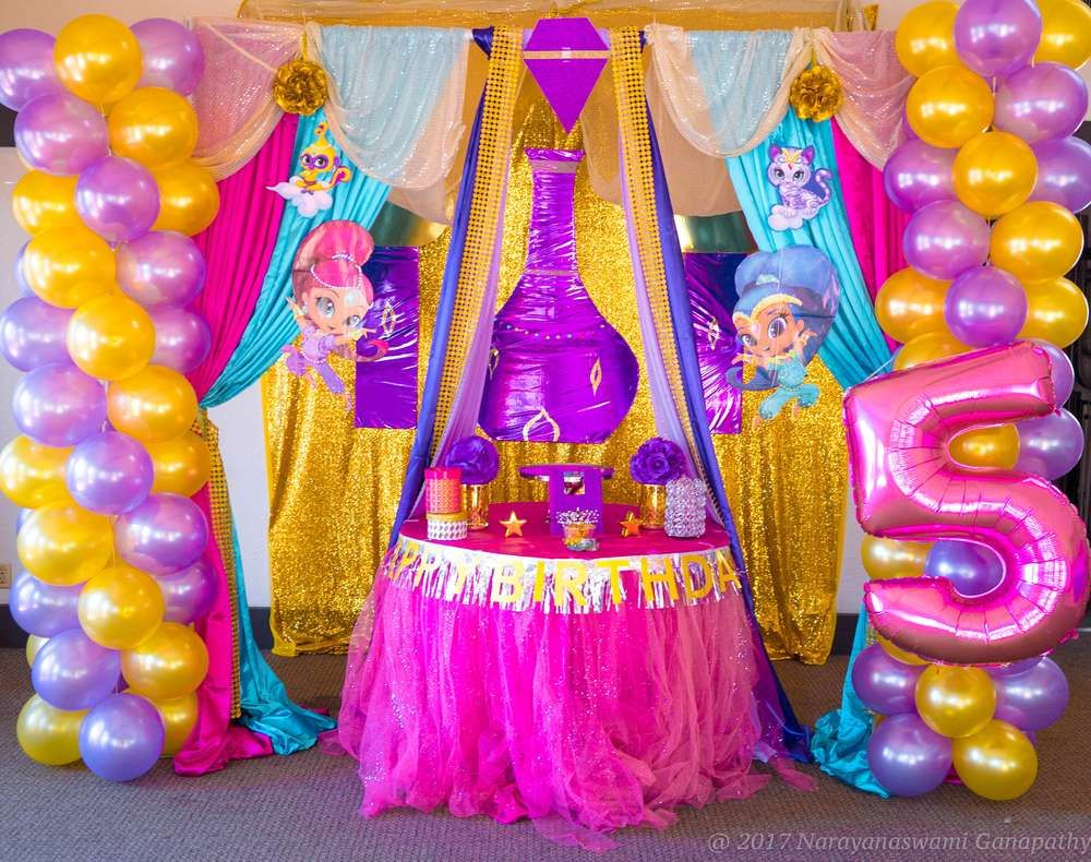 Shimmer And Shine Fifth Birthday Party