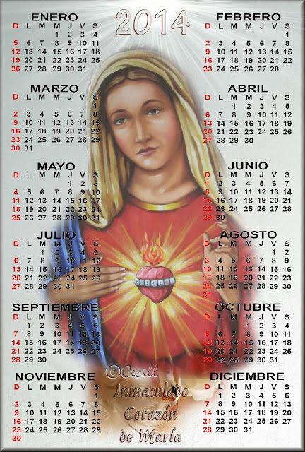 GIFS DE CALENDARIOS: Calendario Inmaculado corazón de María 2014