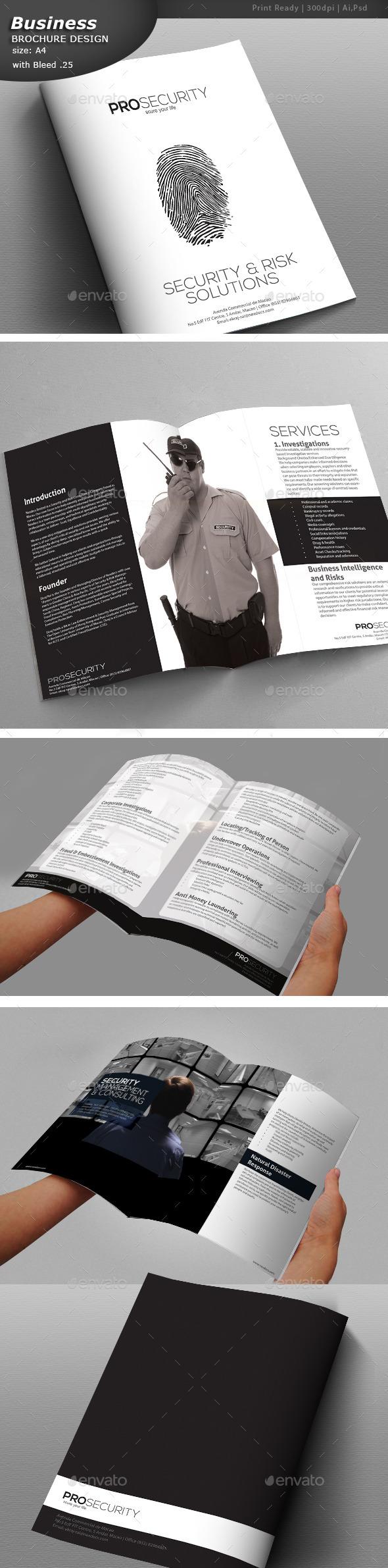 security a4 brochure design print templates 12000 brochure