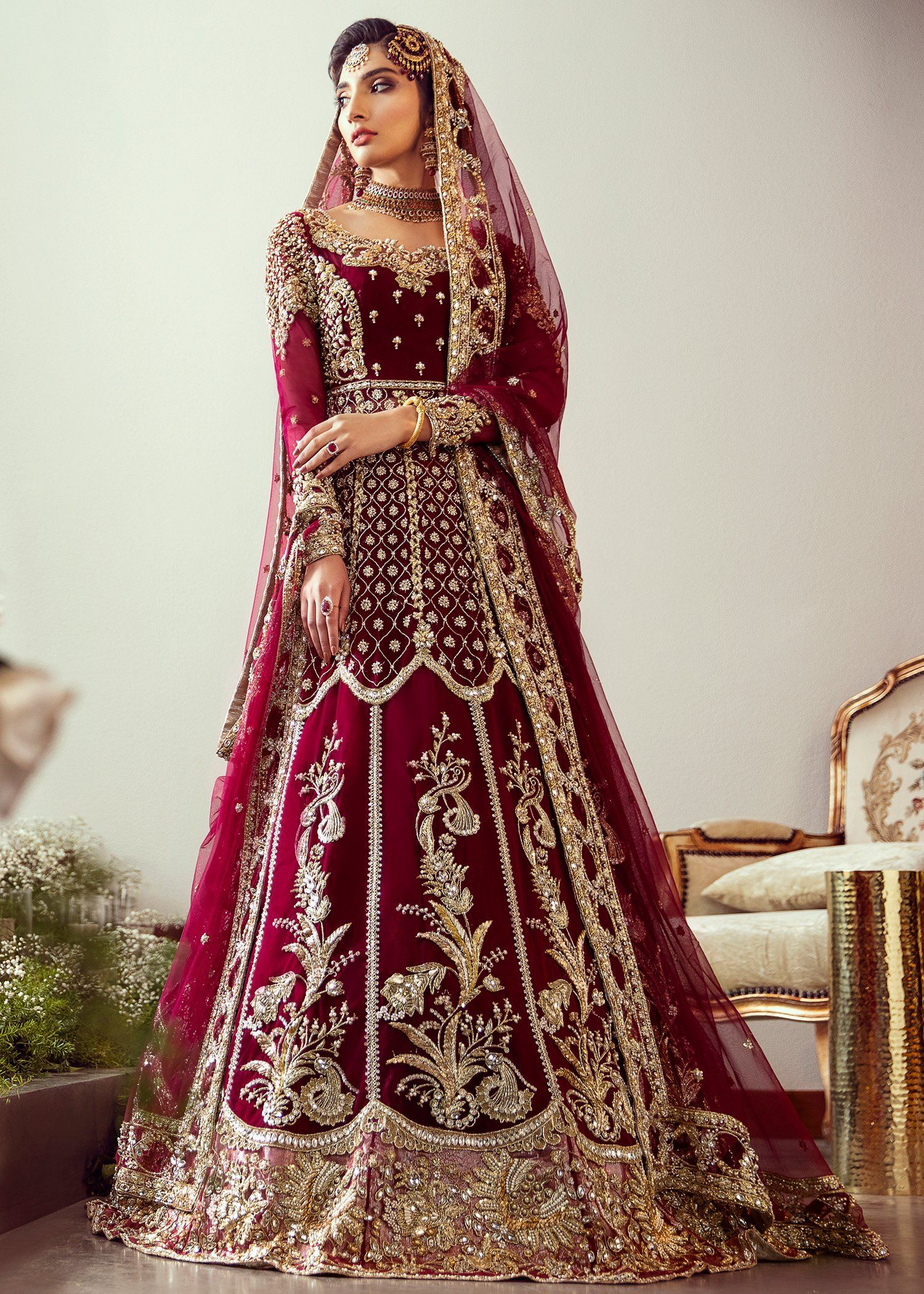 Embroidered Maroon Bridal Lehnga For Wedding N7051 In 2020 Pakistani Bridal Dresses Red Bridal Dress Pakistani Bridal Couture,Used Wedding Dresses For Sale Online India