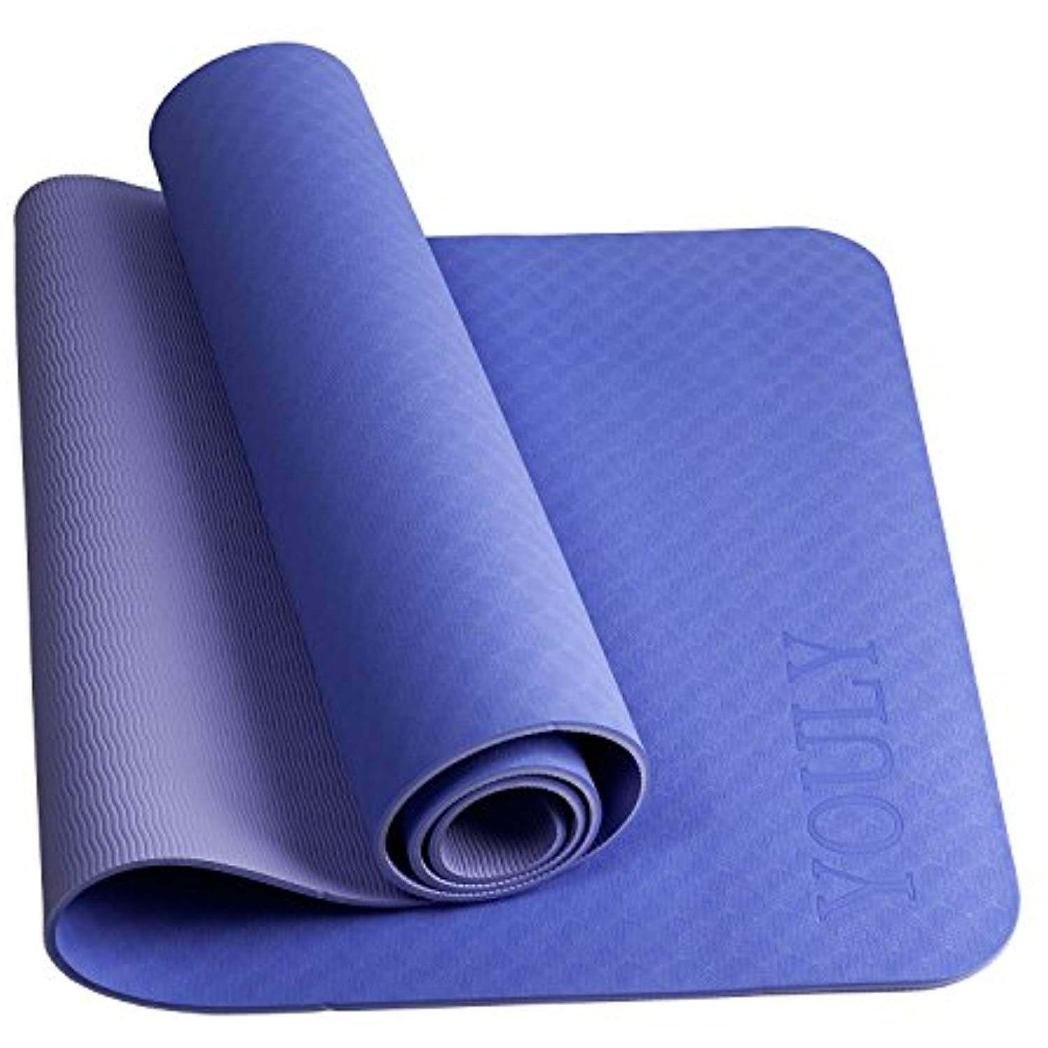 Youly Fitness Mat Yoga Mat Pilates Mats Non Slip High Density Tpe Eco Friendly Stretching Cardio Workout Mats For Mat Exercises Home Gym Flooring Gym Flooring