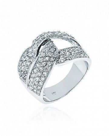 Nita 2ct CZ White Gold Rhodium Ring for $27.00 at BaubleBox.com
