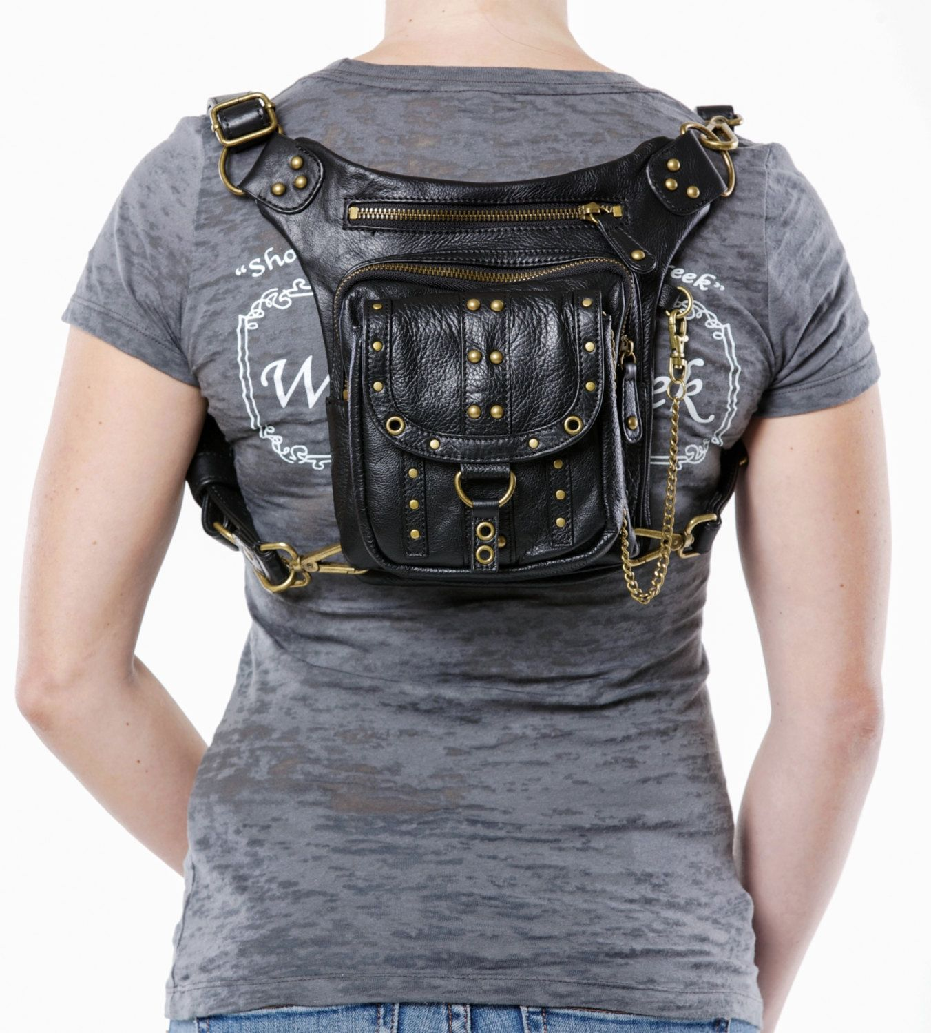 Uptown Pack Black Thigh Holster Protected Purse от WCCouture