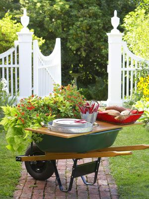 Summer Outdoor Party Decorating Ideas Shelving, Plank and Outdoor