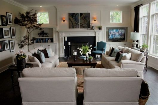 Adorable living room layouts ideas with fireplace (38