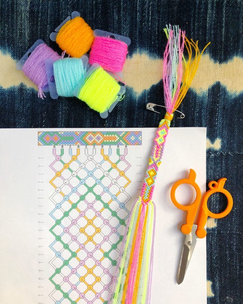 How to Read Friendship Bracelet Patterns | the neon tea party