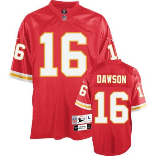 Mitchell and Ness Len Dawson Jersey Kansas City Chiefs  16 Red Team Color Authentic  Throwback 9e9f586e9