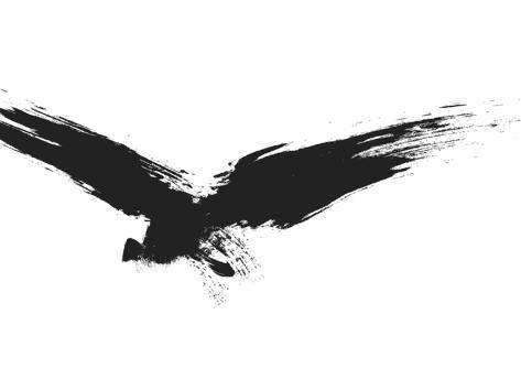 size: 24x18in Art Print: An Image Of A Grunge Black Bird by magann :