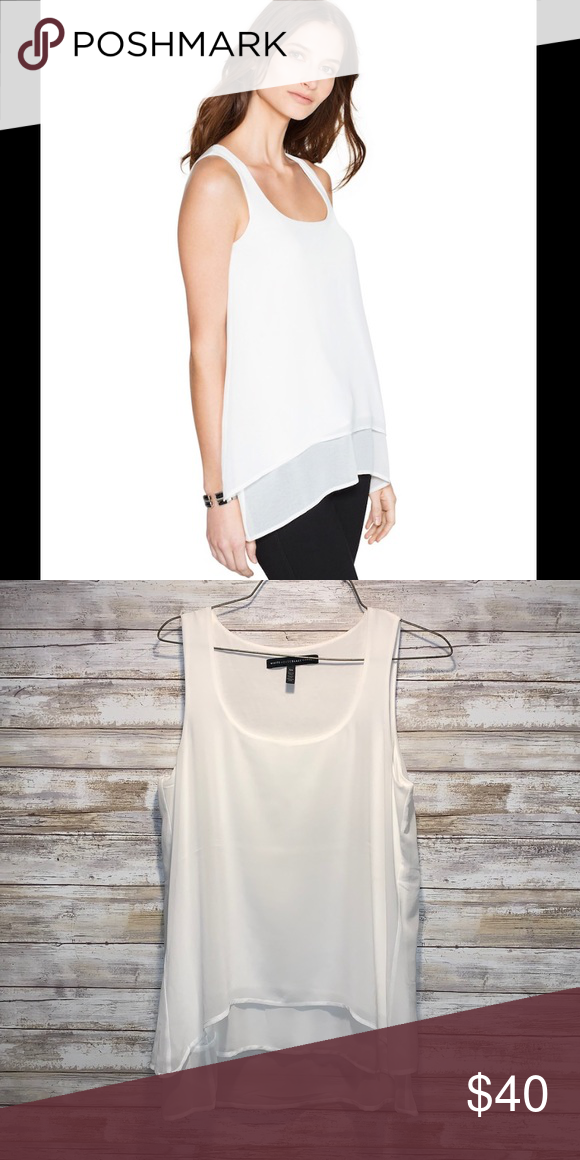 4d5c9fa42084f9 White House Black Market White Tank Top XS White House Black Market Tank Top  Chiffon layering