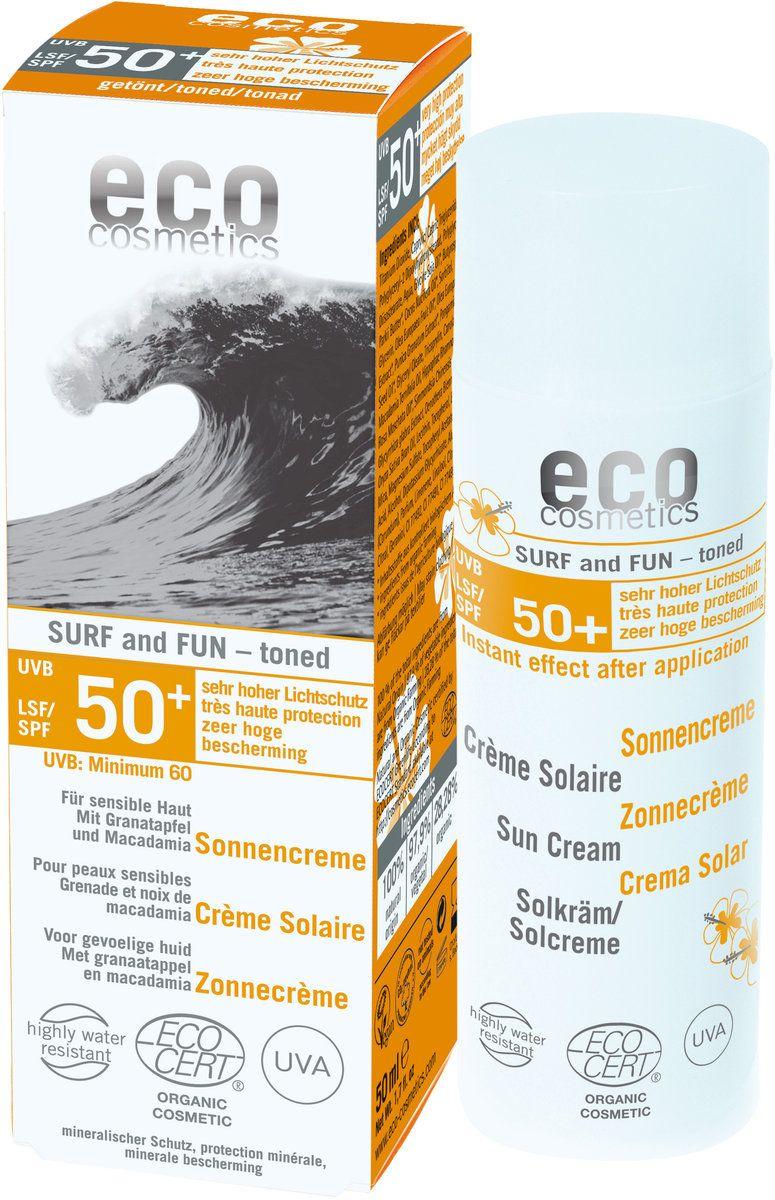 Sonnencreme Surf & Fun extra wasserfest LSF 50+  Mineralischer Lichtschutz, für sensible Haut, mit Granatapfel* und Macadamia*. Speziell für Wassersportler entwickelt: Zuverlässiger Sonnenschutz kombiniert mit hoher Wasserfestigkeit – auch im Salzwasser.