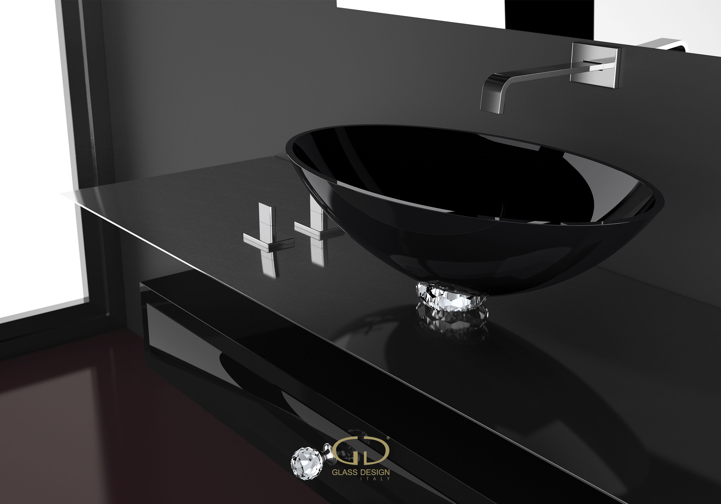 Collier Countertop Washbasin With Jewel Base Ring Collier