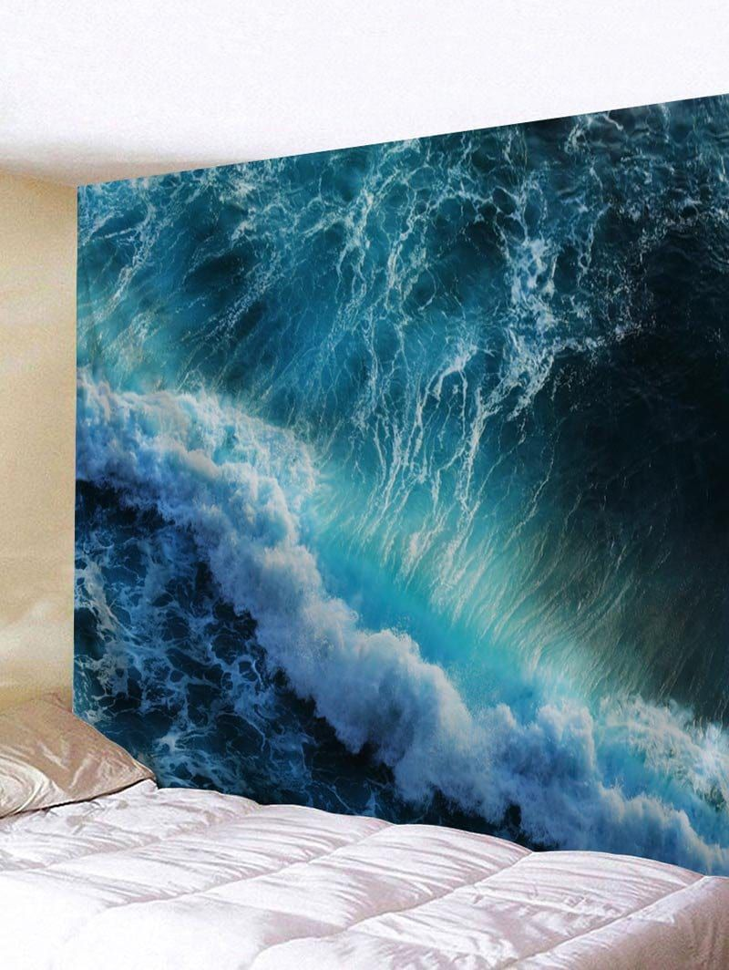 Huge sea waves printed wall decor tapestry faboulous just so