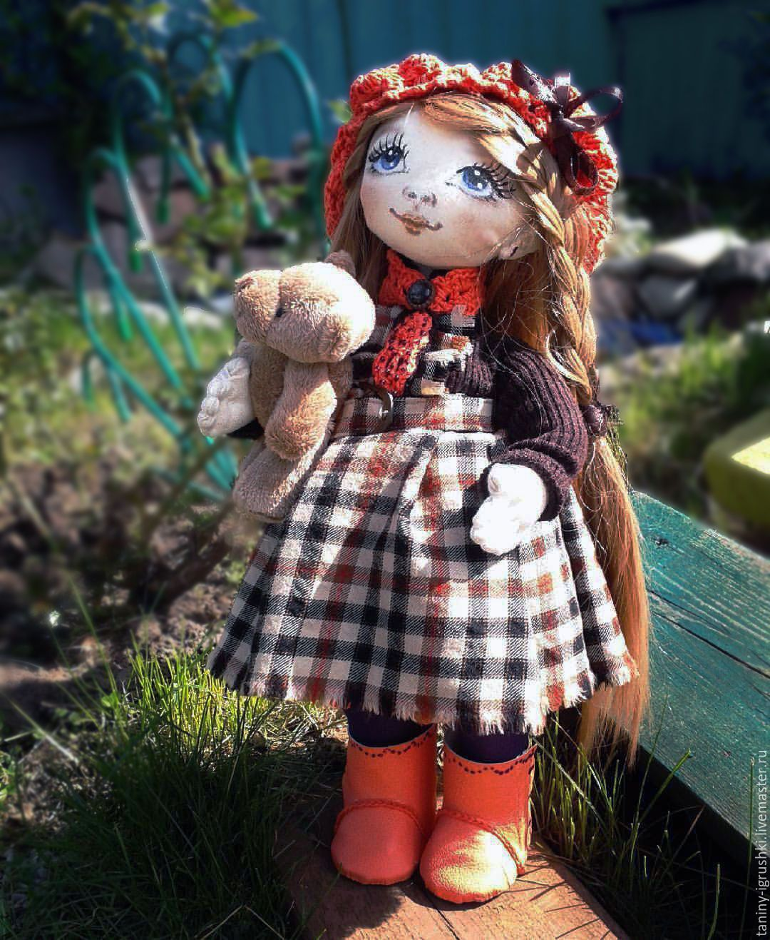 Купить Игрушка от Танюшки - кукла текстильная, коллекционная кукла, подарок, день рождения, свадьба