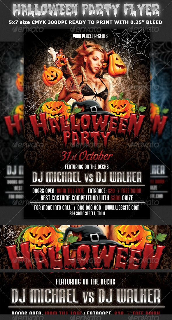 party promotional flyers
