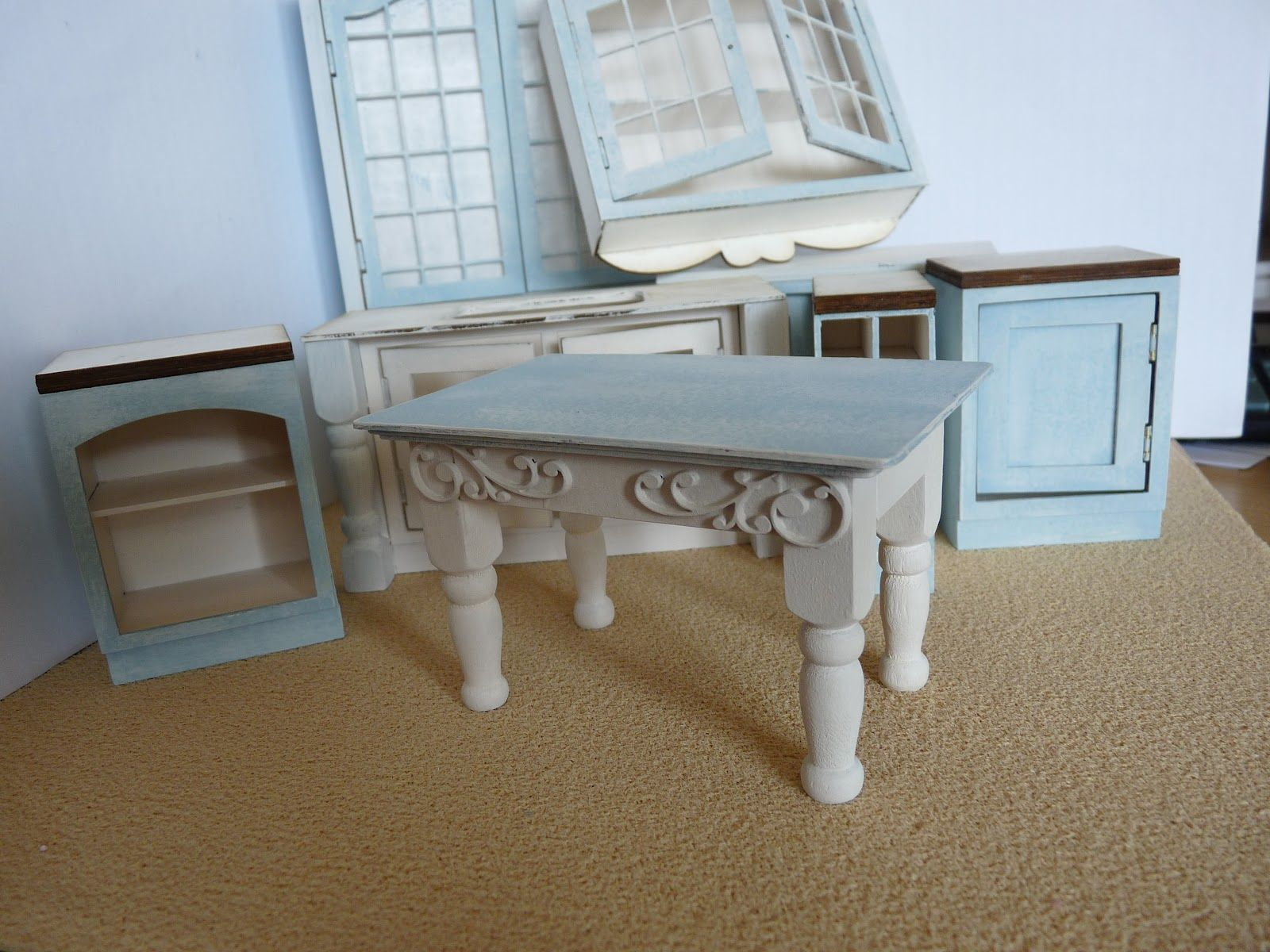 Mollysue Miniatures | Shabby Chic doll house | Pinterest ...