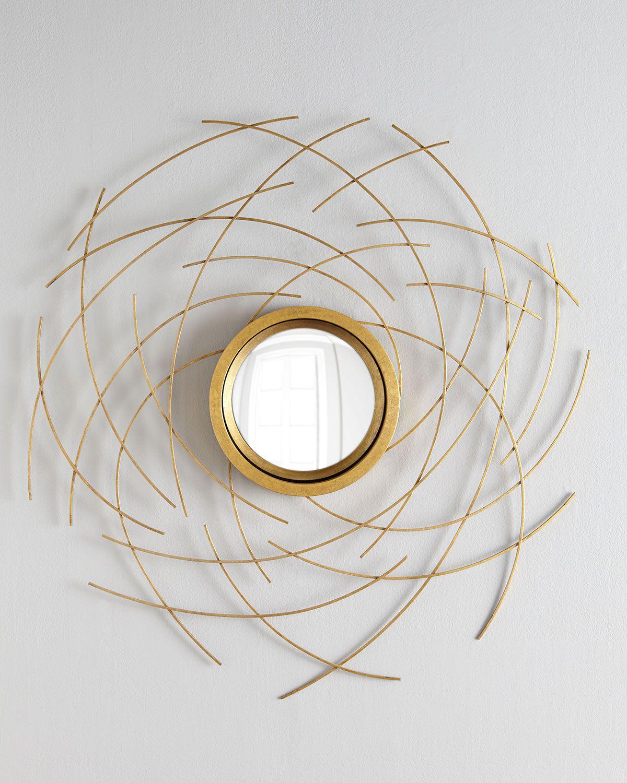 Johnrichard collection abstract mirror wall decor round mirrors