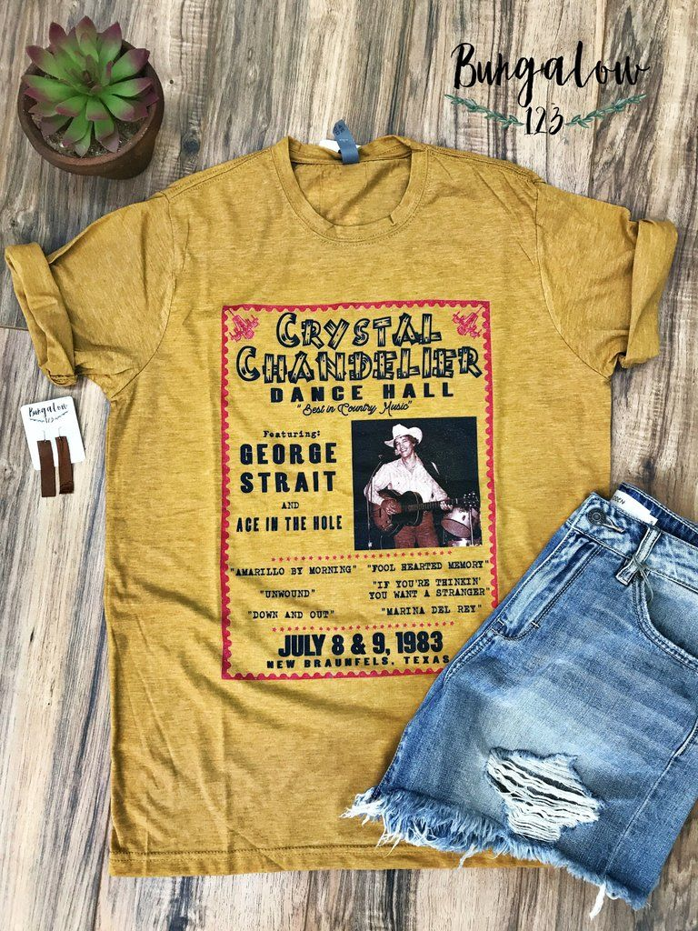 be83efd9 George Strait at the Crystal Tee | www.Bungalow123.com in 2019 ...