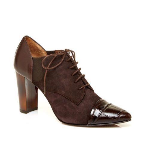 NWT $298 DONALD J PLINER Bette Shoes Brown Leather/Suede Size 8.5 Display condit #DonaldJPliner #MaryJanes