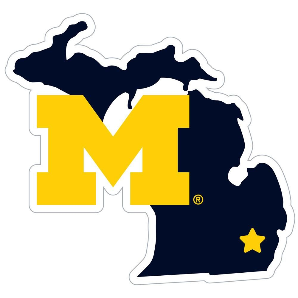 Michigan Wolverines Logo Cast 3d Hitch Cover Michigan Sticker Michigan Decal University Of Michigan Logo