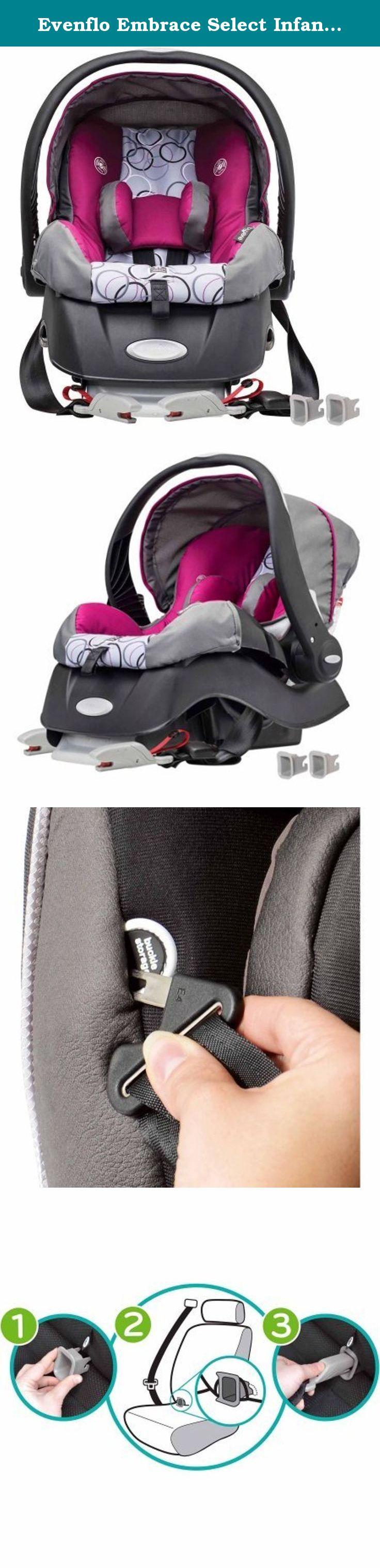 Evenflo Embrace Select Infant Car Seat With Sure Safe Installation Evangeline Model 31541576