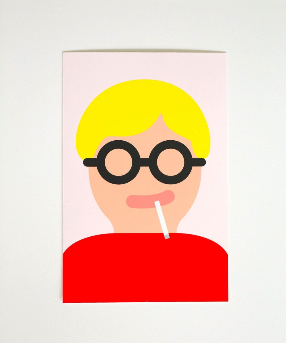 David Hockney print by Fickle Fate